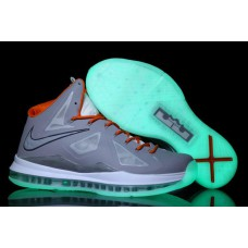 Nike Lebron 10 X Grey Orange Glow