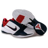 Nike Zoom Kobe V Shoes White Blue Red